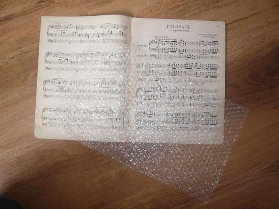 2 cut bubblewrap to size